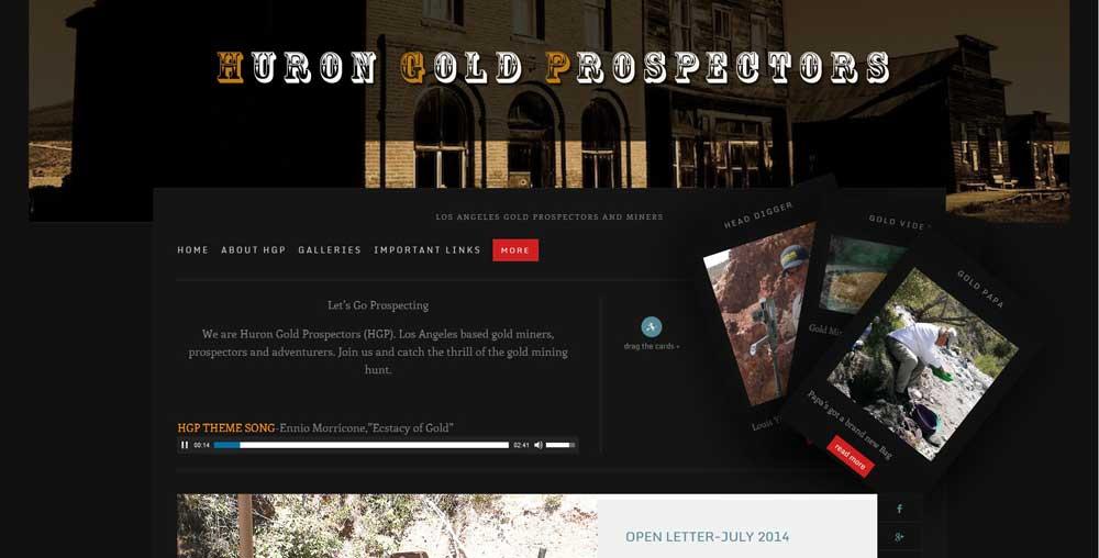 WordPress Samples-Huron Gold Prospectors-Erik Petersen