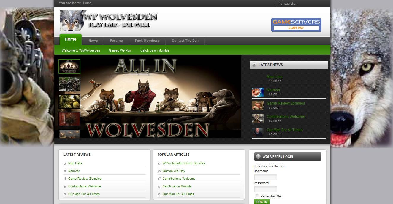 Joomla Websites-Wolvesden-Erik Petersen
