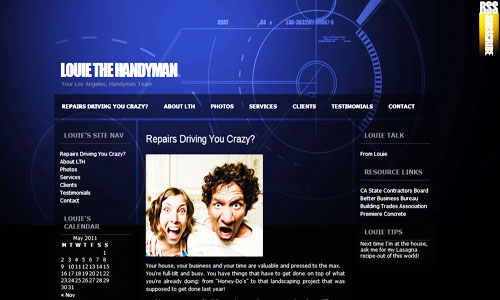 Louie the Handyman Website Screen Capture